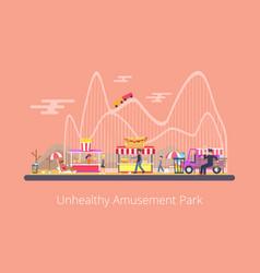 unhealthy amusement park vector image