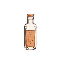 Vintage essential oil bottle or flask engraving vector