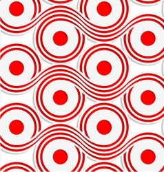 White colored paper red spools vector