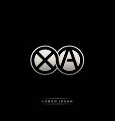 Xa initial letter linked circle capital monogram vector