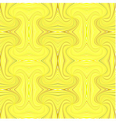 yellow hypnotic abstract seamless striped swirl vector image
