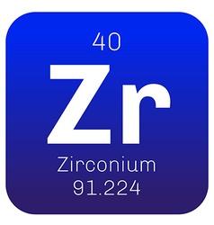 Zirconium chemical element vector image