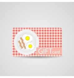 Abstract Beautiful Breakfast Gift Card Design vector image vector image