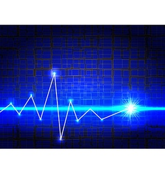 Blue Electronic Techno Background vector image vector image