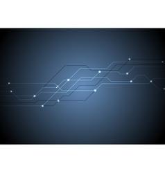 Dark blue circuit board chip tech background vector image