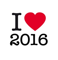 i love 2016 vector image vector image