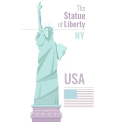 Isolated statue of liberty on white background vector image