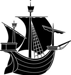 sailing vessel vector image vector image