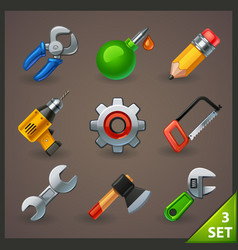 tools icon set-3 vector image
