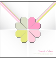 Valentine decorative card vector image vector image