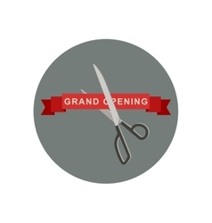 Grand Opening icon with scissors vector image