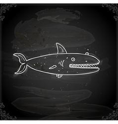 Hand Drawn Shark vector image