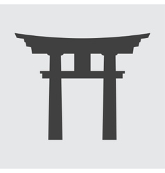Torii gate icon vector image vector image