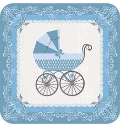 Baby boy carriage vector image