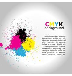 CMYK background vector image vector image