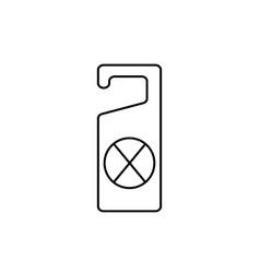 dont disturb door hanger icon vector image