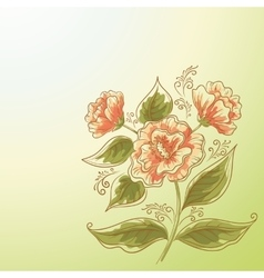 Holiday Background Flower and Leaves vector image