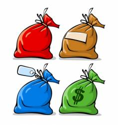 sacks with labels vector image vector image
