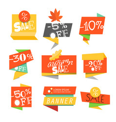 sale banners sale banners template different vector image vector image