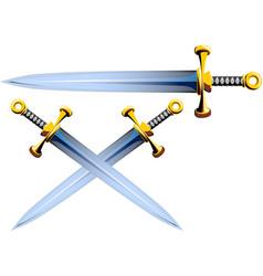 sword crushader cartoon vector image