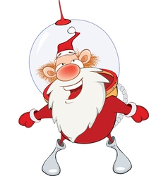 Cute Santa Claus Astronaut vector image