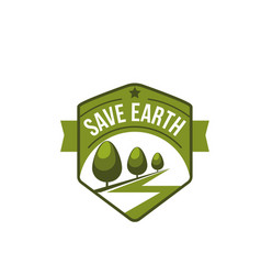 earth day nature ecology conservation icon vector image vector image