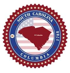 Label sticker cards of State South Carolina USA vector image