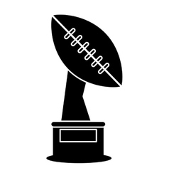 silhouette trophy winner ball shape american vector image