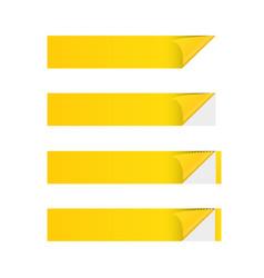 sticker banner yellow vector image vector image