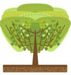 stylized tree illustration vector image