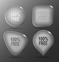 100 free Glass buttons vector