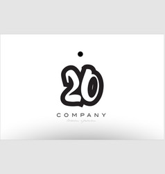 20 number logo icon template design vector