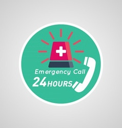 24 Hour Emergency Poster vector