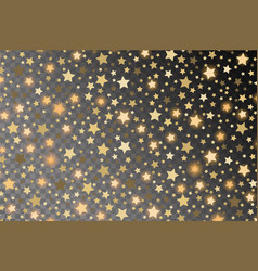 Abstract golden starfall effect pattern isolated vector