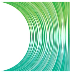 abstract green strip background vector image