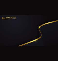 Abstract luxury gold with classic dark blue vector