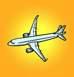 aircraft air transport yellow background vector image
