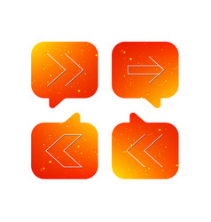 arrows icons next back linear signs vector image