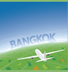 Bangkok flight destination vector