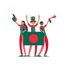 Bangladeshi flag bangladesh people vector