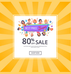 Best price for everyone promotional poster people vector