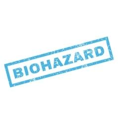 Biohazard Rubber Stamp vector