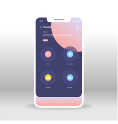 blue and pink universal ui ux gui screen for vector image