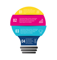Bulb infographic business strategy report vector