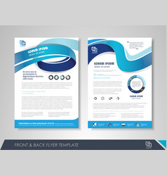 business brochure design vector image
