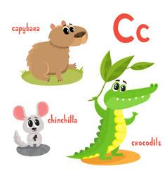 cartoon of wild animals vector image