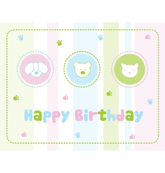 Childrens birthday card vector image