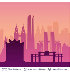 chongqing famous china city scape vector image