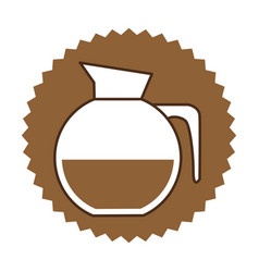 coffee jug icon image vector image