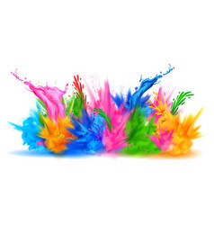 Colorful happy holi background for color festival vector